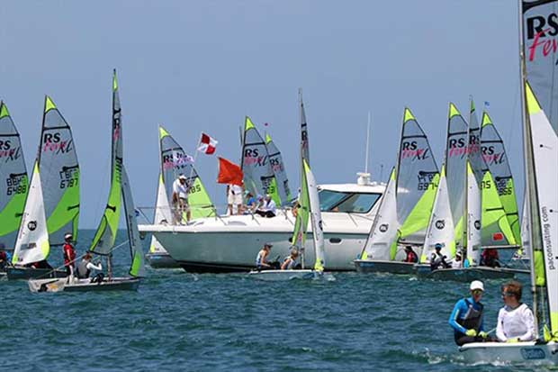 RS Feva Worlds at Clearwater Florida - Day 3 © RS Feva Class Association