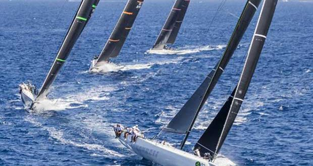 Cannonball leads the way at the 2017 Maxi Yacht Rolex Cup. - photo © Carlo Borlenghi / Rolex
