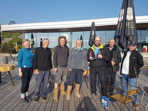 Winners from the COGS race to Roscoff - photo © COGS