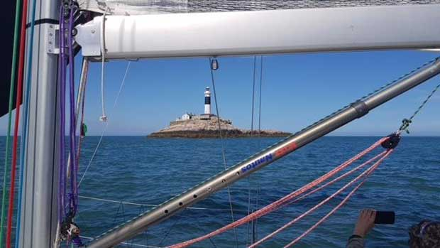 Approaching Rockabill during Race 3 of the ISORA Offshore Series 2018 © Peter Ryan