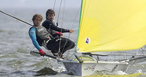 Lucas Rual and Emile Amoros (FRA), 49er - 2018 Medemblik Regatta - Day 4 - photo © Sander van der Borch