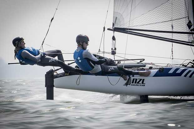 Jason Saunders and Gemma Wilson (GBR), Nacra 17- 2018 Medemblik Regatta - Day 4 - photo © Sander van der Borch