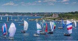 A view of a recent Newport Bermuda Race send-off for Class 3 of the St. David's Lighthouse Division. © Daniel Forster / PPL