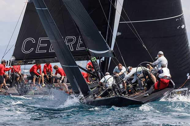 Team Aqua demolished the opposite in today's second race - 2018 RC44 Portorož Cup - Day 2 - photo © Nico Martinez / www.MartinezStudio.es