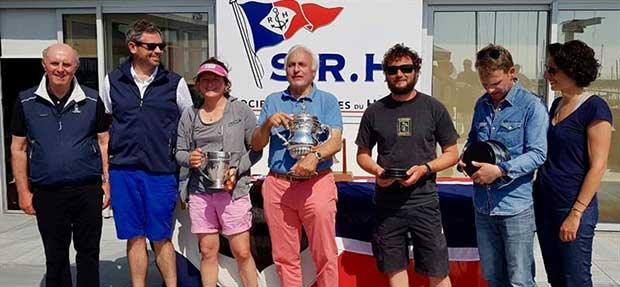 Pintia receives the Cervantes Trophy from RORC Racing Manager, Chris Stone - photo © RORC