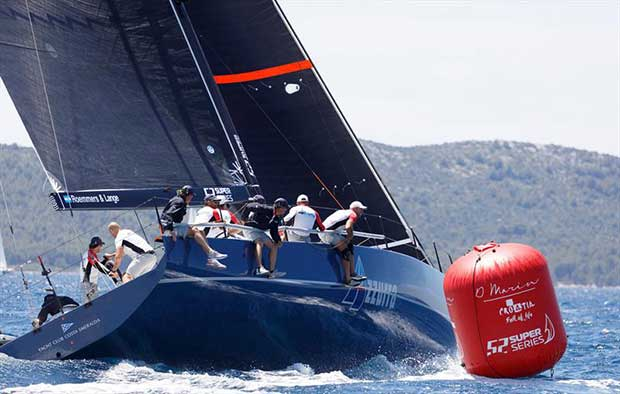 Azzurra at the 52 Super Series Zadar Royal Cup - photo © Nico Martinez / 52 Super Series