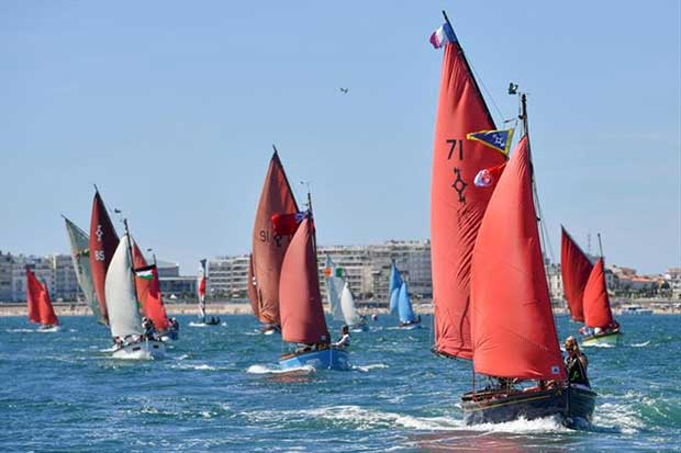 Local regatta for GGR skippers racing classic d'Olonnis gaff rigged fishing boats.... © Christophe Favreau