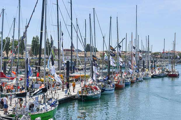 Golden Globe Race yachts preparing for the start on Sunday © Golden Globe Race