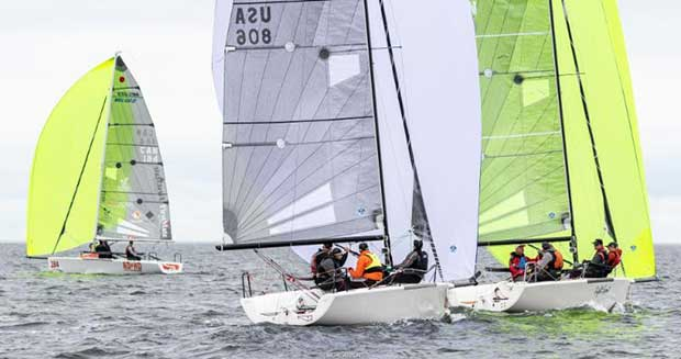 Corinthian team Good Enough USA806 by Matt MacGregor made a great result being second in one race today and remains the leader of the Corinthian division - 2018 Melges 24 World Championship - Day 3 - photo © IM24CA / Zerogradinord