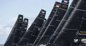 The RC44 start is one of the most competitive in grand prix sailing - photo © Pedro Martinez / Martinez Studio
