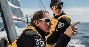 Leg 11, from Gothenburg to The Hague, day 03 on board Turn the Tide on Plastic. Francesca Clapcich and Dee Caffari chat. 23 June, . - photo © Rich Edwards / Volvo Ocean Race