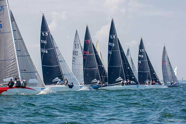 Start Race 2 - 2018 5.5 Metre German-Dutch Open - Day 1 - photo © Robert Deaves