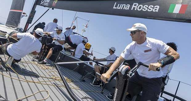 Jimmy Spithill is back with Luna Rossa and racing on their TP52 - photo © Carlo Borlenghi