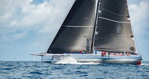 Rambler 88 taking the lead in the Atlantic Anniversary Regatta. - photo © John Manderson