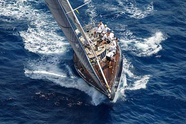 Best Buddies, the exclusive entry in the Cruising Division, which set sail prior to the main fleet - photo © Antigua Sailing Week