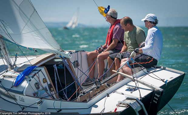 Nordic Folkboat Eala enjoys the summer breeze conditions on day 1 of Cowes Classics Week - photo © Tim Jeffreys Photography