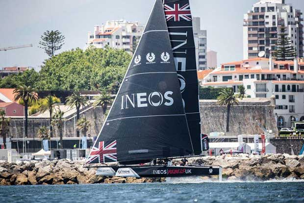 Extreme Sailing Series Act 4, Cascais 2018 - Day 1 - INEOS Rebels UK © Lloyd Images