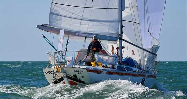 Philippe Péché has opened up a 45 mile lead and his Rustler 36 PRB, making most of NNE winds carrying the fleet down towards the first 'gate' in the course of Marina Rubicon, Lanzarote © Event Media