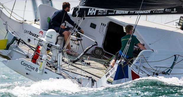 In a light airs race, Overall Line Honours and the win in the Class40 Division went to Tony Lawson's Concise 8, skippered by Jack Trigger. - photo © RORC / Paul Wyeth
