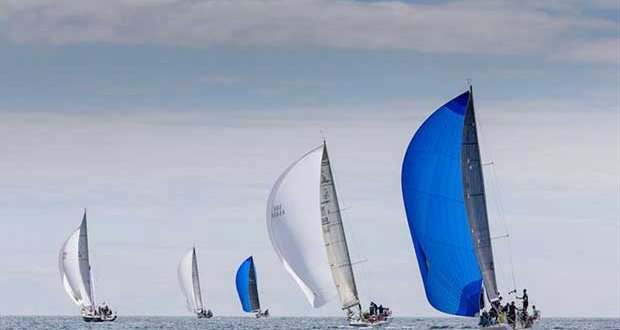 Jelly Baby skippered by Brian and Mary Jones (right) racing in Class 2 on day 1 of Volvo Cork Week - photo © David Branigan / Oceansport