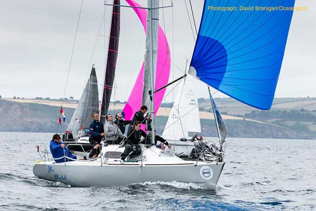 Miss Whiplash owned by Ronan and John Downing, overall winner of Class 3 IRC at Volvo Cork Week organised by the Royal Cork Yacht Club. - photo © David Branigan / Oceansport