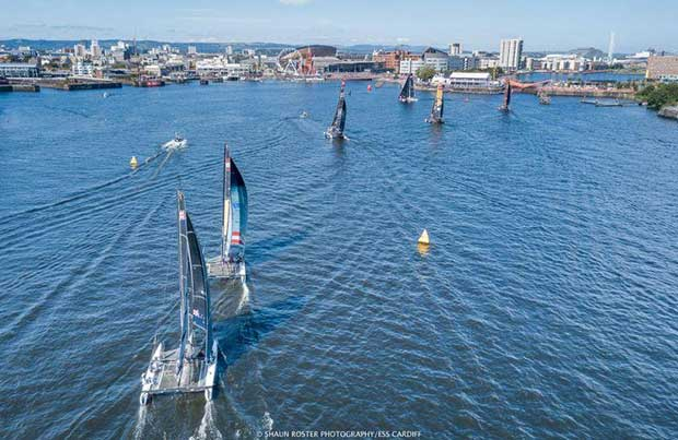 Extreme Sailing Series™ - Cardiff 2017 - Fleet © Shaun Roster