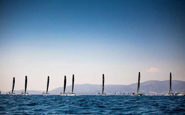 A flying start on day 1 of the GC32 Racing Tour at the 37 Copa del Rey MAPFRE - photo © Sailing Energy / GC32 Racing Tour