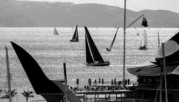 Race finish off Hamilton Island Yacht Club - photo © Salty Dingo