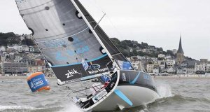 La Solitaire URGO Le Figaro start - photo © Alexis Courcoux