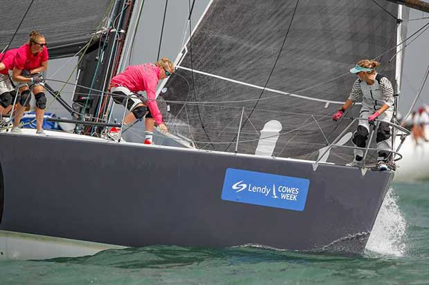 TUTIMA in IRC Class 1 during Ladies Days at Lendy Cowes Week © Paul Wyeth / CWL
