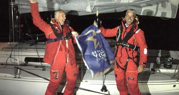 Chris Revelman and Pascal Bakker's Dutch J/122 Junique Raymarine Sailing Team finished the race on Thursday 23rd August close to midnight Gefeliciteerd! © RORC