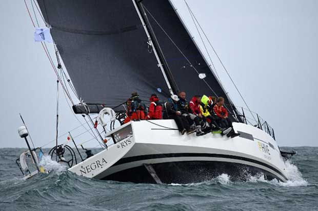 Currently leading the IRC fleet after time correction: Giles Redpath's Lombard 46 Pata Negra © Rick Tomlinson / RORC