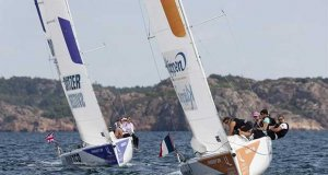 Match in Pink by Normandy Elite Team in the lead after day one in Lysekil - 2018 Lysekil Women's Match © Dan Ljungsvik