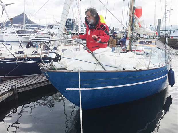 Loïc Lepage, arrived in Cape Town last Saturday and is now in the Chichester Class - photo © Eben Human