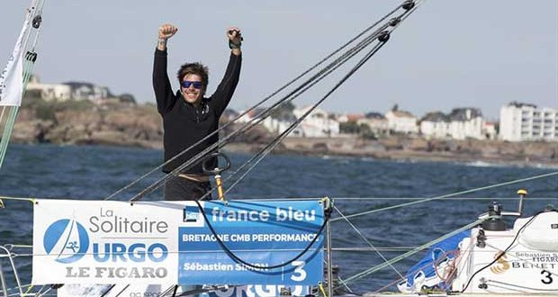 Sebastien Simon wins Stage 4 of La Solitaire URGO Le Figaro and overall © Alexis Courcoux