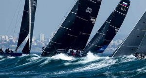 Wavey windy conditions for day two of the 2018 RC44 World Championship - photo © Pedro Martinez / Martinez Studio