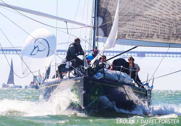 A Duel between two Santa Cruz 52s: Elyxir leads Lucky Duck after three days of racing - Rolex Big Boat Series 2018 - photo © Rolex / Daniel Forster