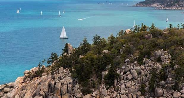 Aerial view of SeaLink Magnetic Island Race Week today ©Andrea Francolini / SMIRW