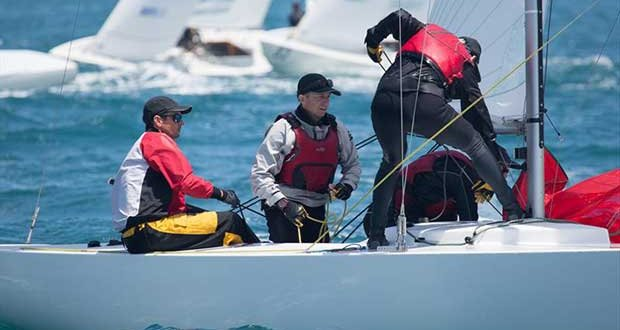 On board with Iron Lotus (Tom King, Ivan Wheen, David Edwards and Greg O'Shea) during the 2018 Etchells Queensland State Championship in Brisbane - photo © Kylie Wilson / www.PositiveImage.com.au