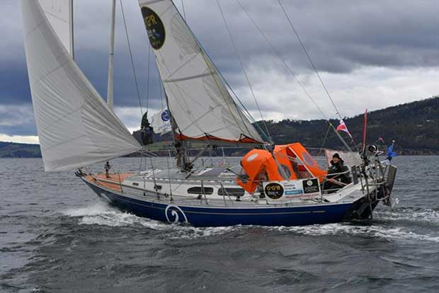 Uku Randmaa and his Rustler 36 One and All - 3rd at the Hobart film gate © Christophe Favreau / PPL / GGR