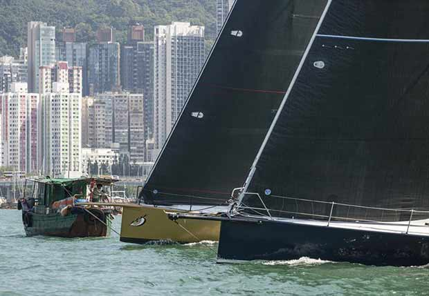 Teams prepare to start the Hong Kong to Hainan Race 2016 © RHKYC / Guy Nowell