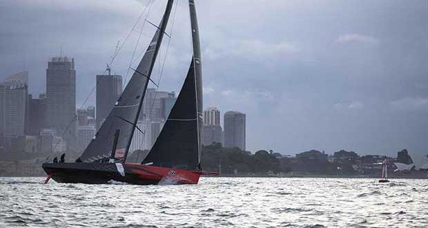 Comanche has taken line honours - and another race record - in the Audi Centre Sydney Blue Water Pointscore Newcastle Bass Island Race © Cruising Yacht Club of Australia