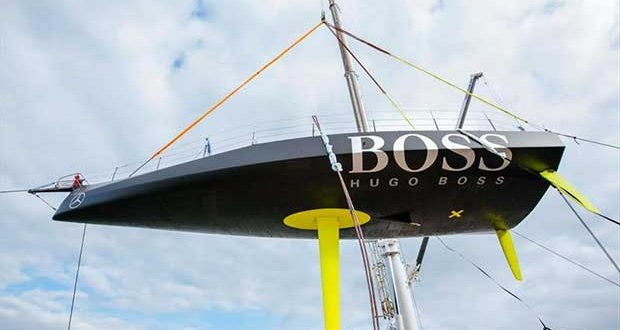 The IMOCA60 (plus DSS foils not shown in this shot will be used to compete for the Volvo Trophy for the overall winner - photo © Hugo Boss