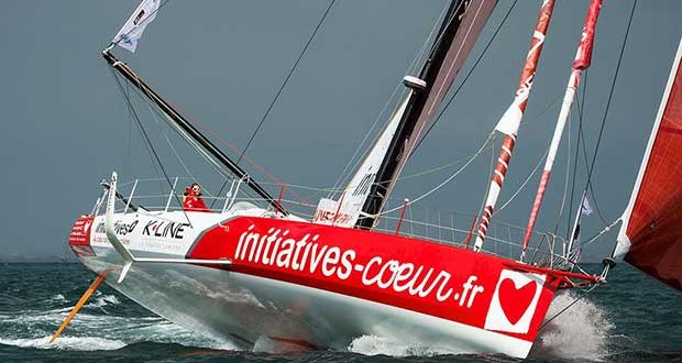 "Transat Jacques Vabre 2017, Imoca Initiatives-CÅ""ur, skippers Tanguy de Lamotte et Samantha Davies - photo © Vincent Curutchet"