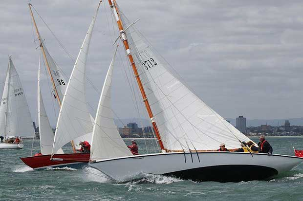 Oenon skippered by Helen Lovett on day 1 of the 12th Classic Yacht Cup Regatta © Alex McKinnon Photography