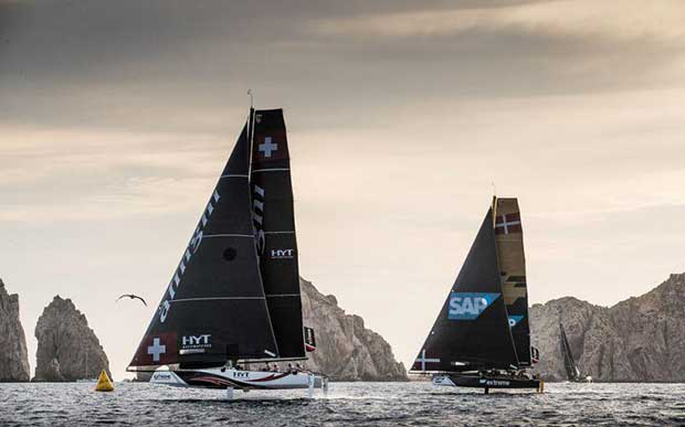 Extreme Sailing Series Act 8, Los Cabos 2017 - Day 2 - Alinghi and SAP Extreme Sailing Team © Lloyd Images