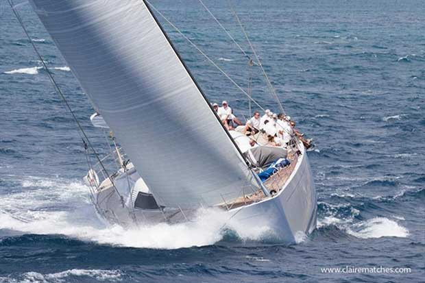 The 112ft German Frers sloop Spiip - 2018 Superyacht Challenge Antigua © Claire Matches / www.clairematches.com