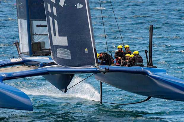 China SailGP in training in the F50 off Whangarei - photo © SailGP