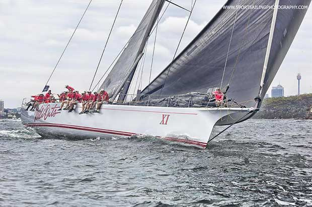 Wild Oats XI in the Grinders Coffee SOLAS Big Boat Challenge yesterday afternoon...  - photo © Beth Morley / www.sportsailingphotography.com
