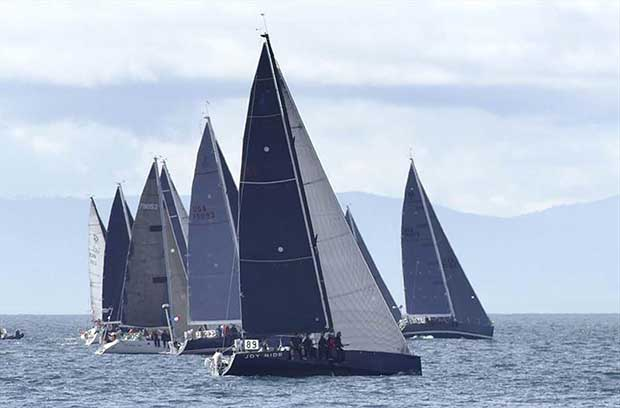 Joy Ride on the starting line of the 2018 Swiftsure Race - photo © Image courtesy of John Murkowski/Joy Ride Collection